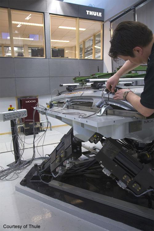 Tavola di simulazione idraulica Moog attualmente presente nel laboratorio Thule